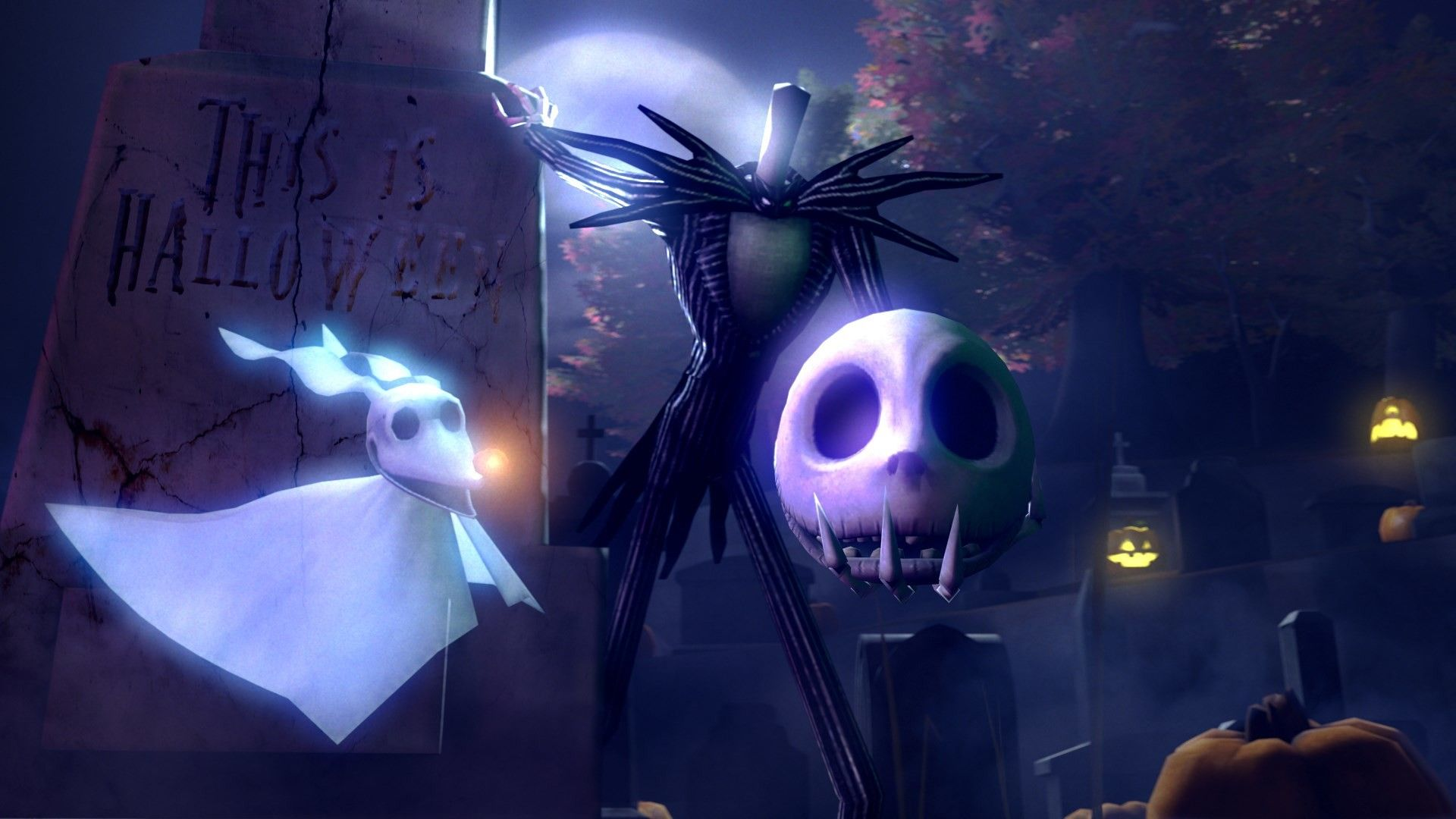 1920x1080 Jack Skellington Nightmare Before Christmas Pc Wallpaper Nightmare Before Christmas Wallpaper Halloween Wallpaper Halloween Art