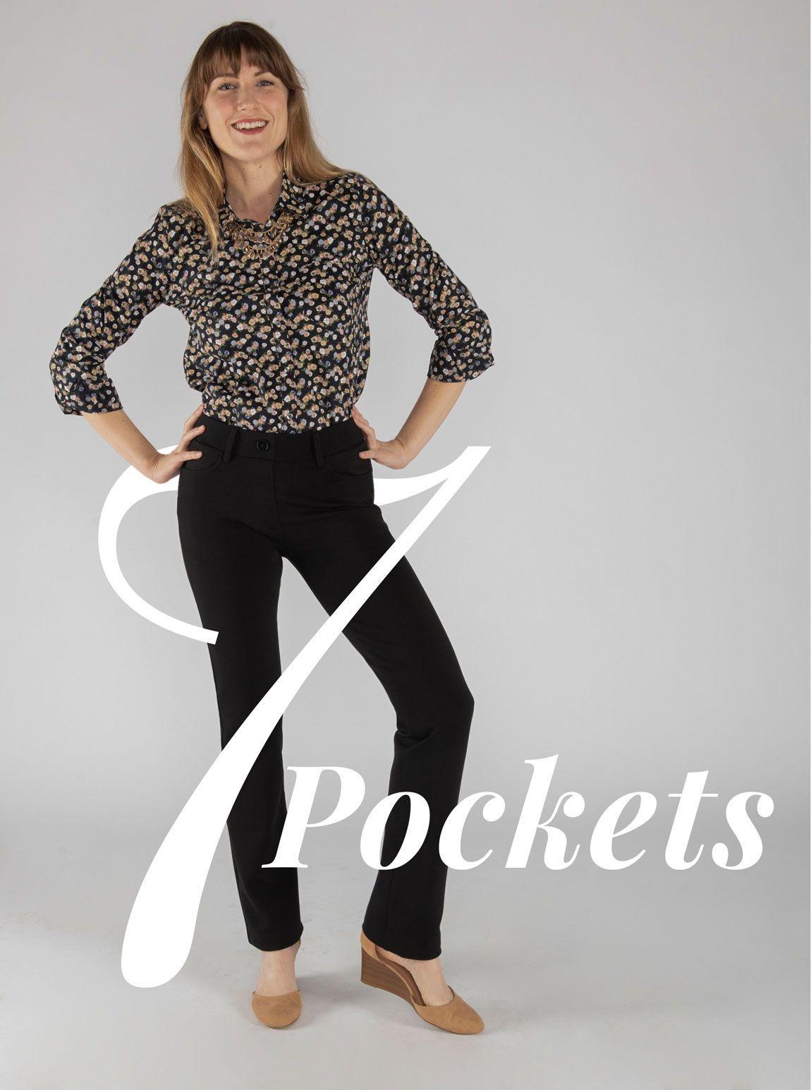 Straight Leg 7 Pocket Dress Pant Yoga Pants Black Dress Yoga Pants Black Pants Outfit Stylish Pants [ 1545 x 1150 Pixel ]