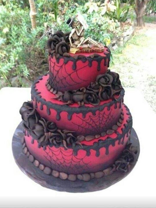 45 Creative Halloween Wedding Cakes Ideas