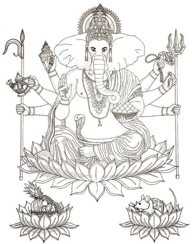 Hindu-Gott Ganesha | Coloring | Pinterest | Mandalas