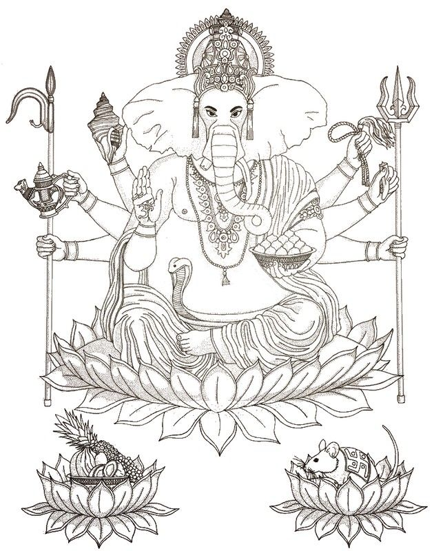 Hindu-Gott Ganesha | Mandala Religiosität | Pinterest | Mandala ...