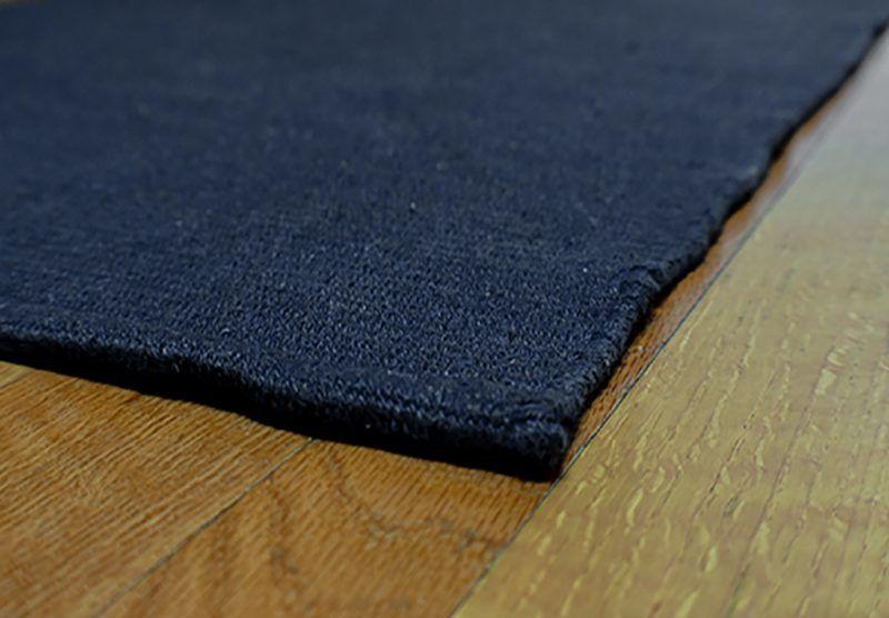 Solid Navy Blue Flatweave Eco Cotton Rug Rugs Rug Hooking Long Runner Rugs