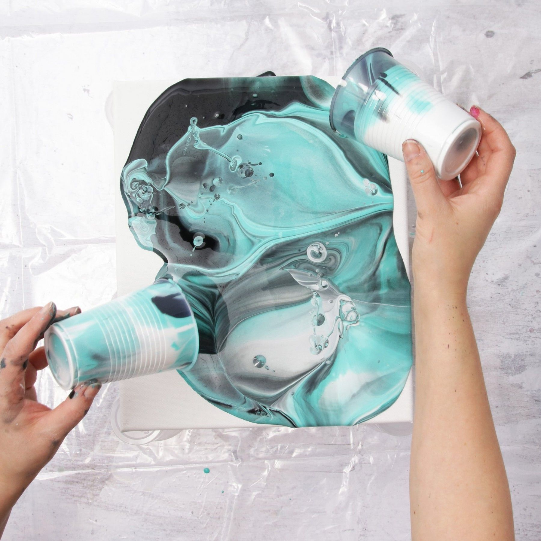 This Acrylic Painting Technique Is So Much Fun You Had