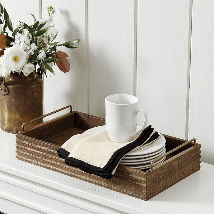 Frenchinterior Design Ideas: Becca Rustic Wood Tray # Frenchinterior