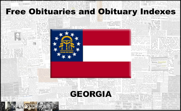 Free Georgia Obituaries And Obituary Index Links Historical Newspaper Online Church Family History Center