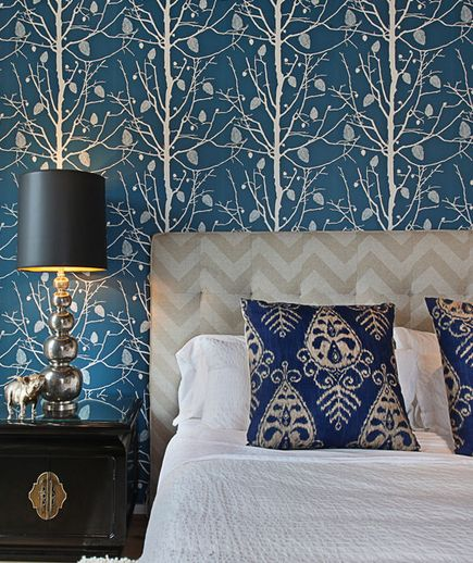 Bedroom Beautiful Bedrooms Bedroom Decor House And Home Magazine Blue wallpaper designs for bedroom