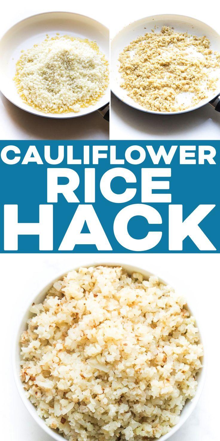 Cauliflower Rice Hack how to cook frozen cauliflower