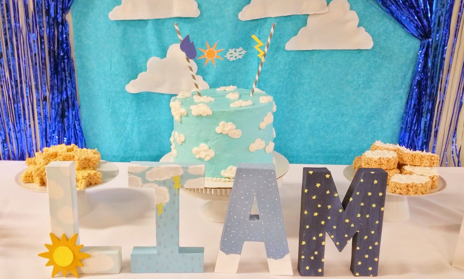 Custom hand painted letters by Morsels Party Planning.