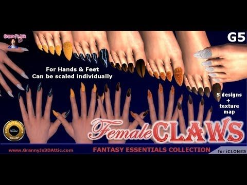 Female Claws Content Pack for iClone