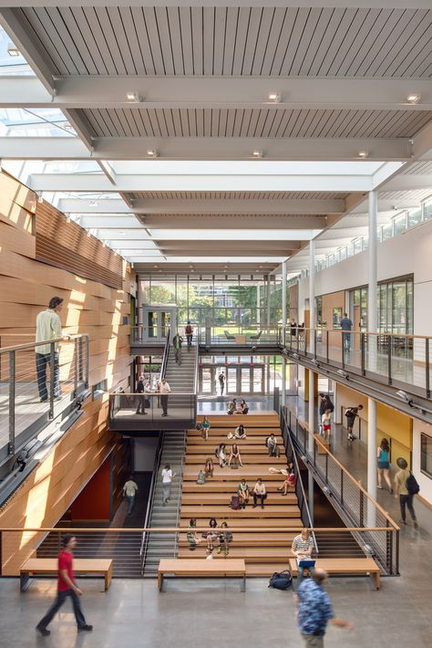 Gallery of 9 Projects Selected for AIA Education Facility Design Awards  15 is part of Education architecture, College architecture, Atrium design, School building design, School architecture, University architecture - Image 15 of 19 from gallery of 9 Projects Selected for AIA Education Facility Design Awards  Photograph by Christian Columbres