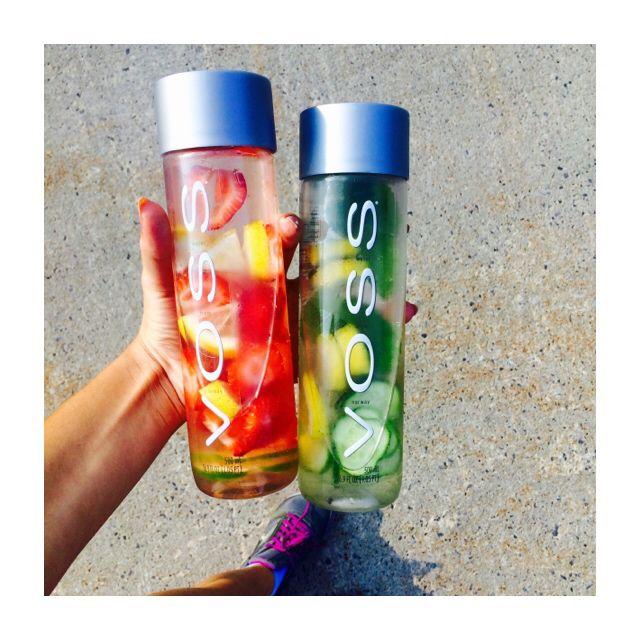 9c70aafa36 Voss detox Water Left bottle: Strawberry Lemon Lime Right bottle: Cucumber  Lemon Lime Mint
