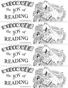 Free Bookmark Coloring Pages Google Search Library Bookmarks