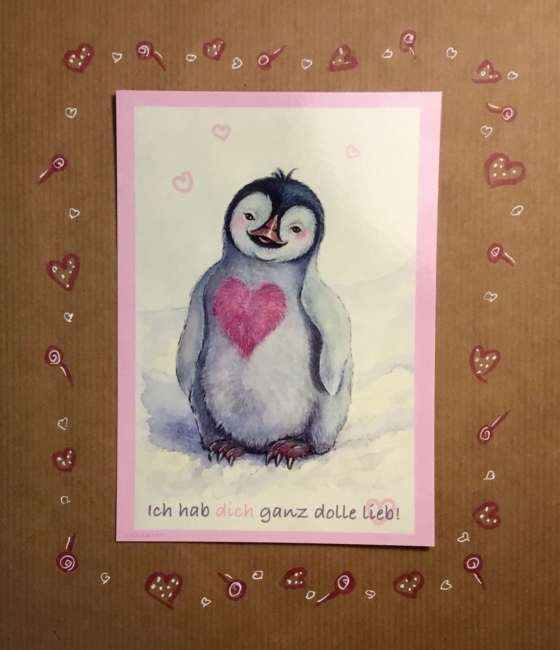 17 Ich hab dich ganz doll lieb! Postkarte von Windel Winni
