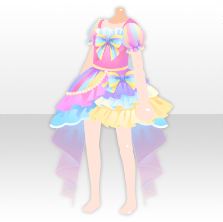 Tops Rainbow Girl Lace Mini Dress Ver A Pink Png Anime Outfits Japanese Outfits Girl Outfits