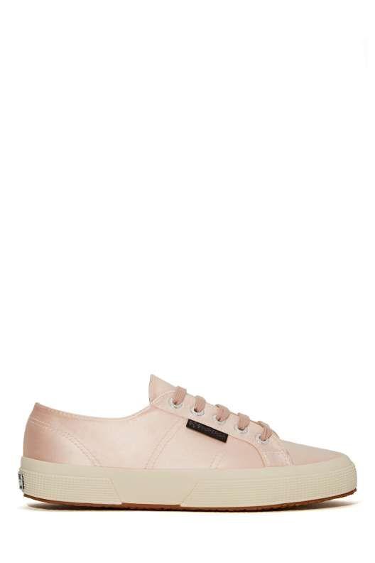 Superga X The Man Repeller Satin Sneaker - Light Pink - Shoes