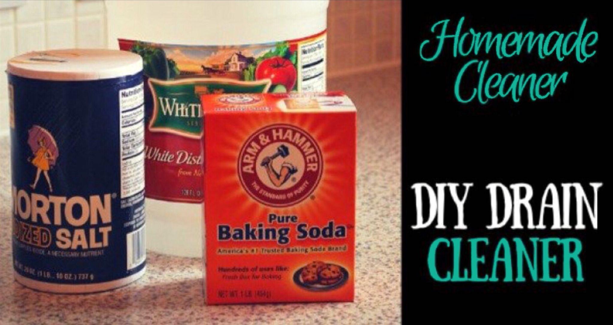 DIY Cheap Drain Cleaner Homemade drain cleaner, Diy