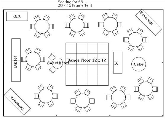 Wedding Reception Worksheets | We will customize a layout for your ...
