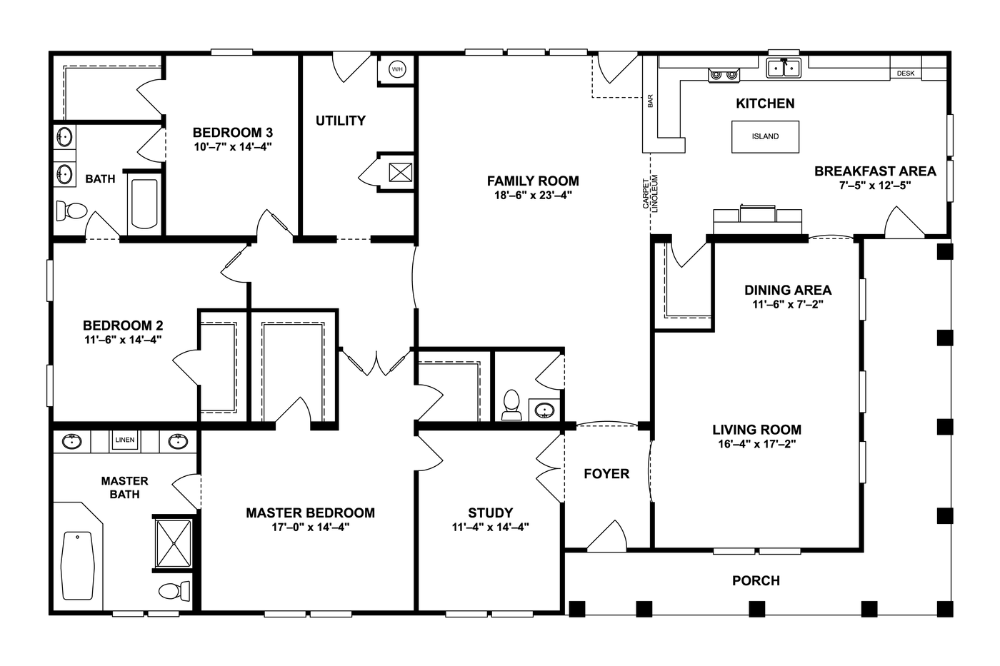 27nsc45723ah Norris Homes Mobile Home Floor Plans Modular Home Plans Clayton Homes