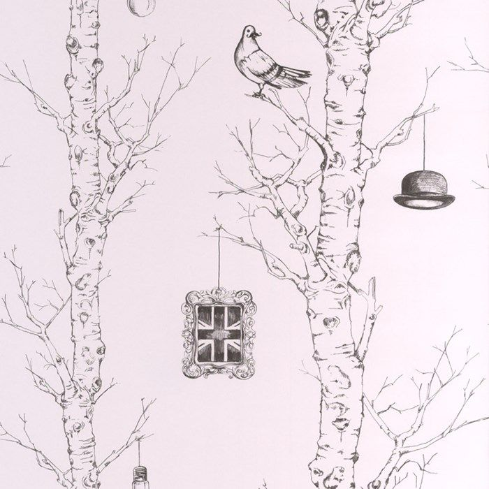 Eccentric Black White Wallpaper British Wall Coverings By Graham Brown Black And White Wallpaper Scenic Wallpaper White Wallpaper