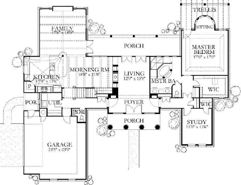 Colonial Style House Plan 4 Beds 2 5 Baths 3000 Sq Ft Plan 80 181 House Plans Floor Plan Design How To Plan