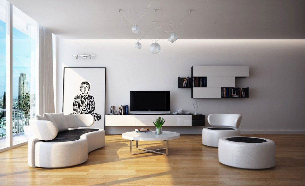 Admirable Tone For Modern Concept Retro Minimalist Living Area Interior Design And Style