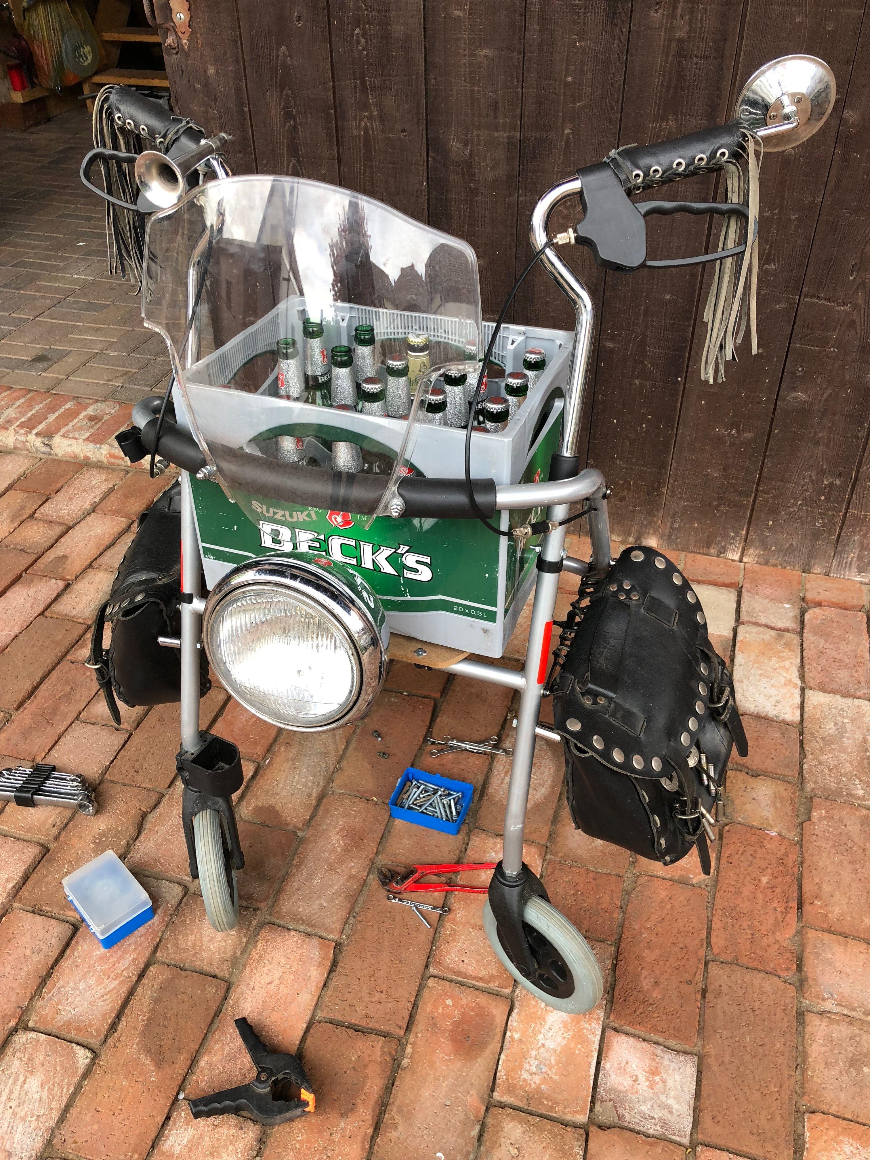 Biker Rollator Biker Geschenk Rollator Pimpen Geburtstags