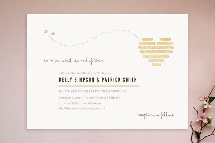 Honeycomb Heart Wedding Invitations by Kristen Smi... | Minted