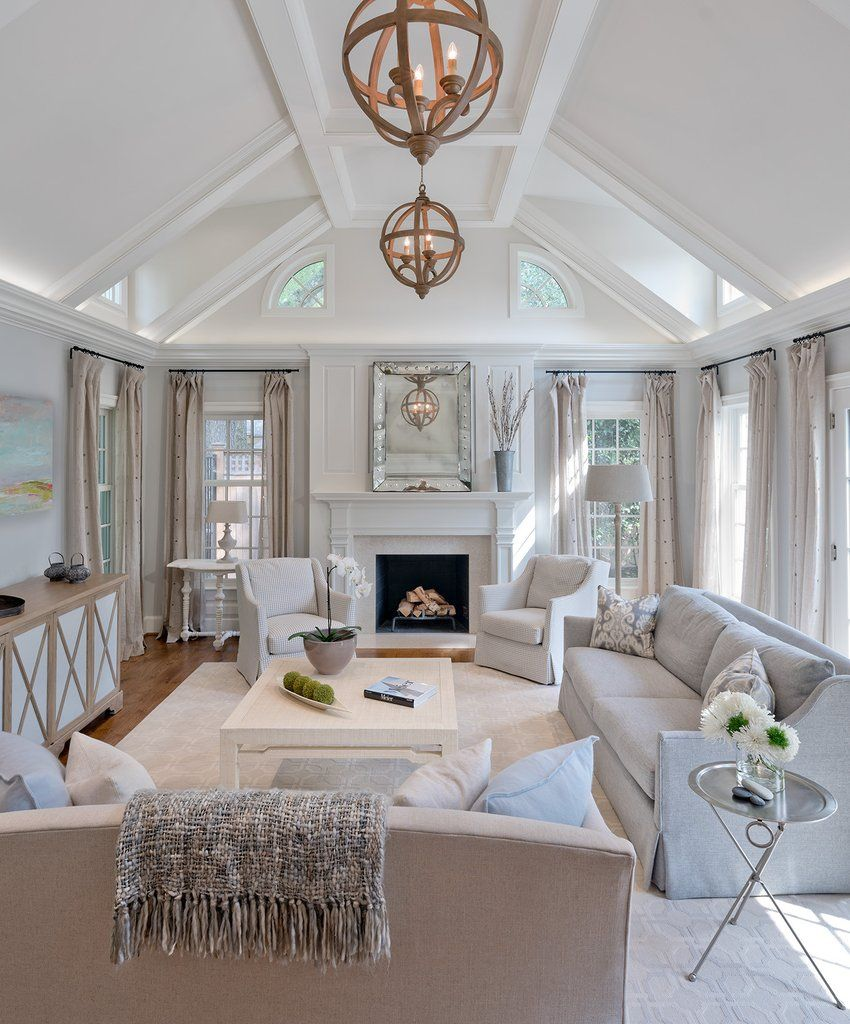 10 Living Rooms With Calming Colors: CALM AND COOL IN CHEVY CHASE In 2019