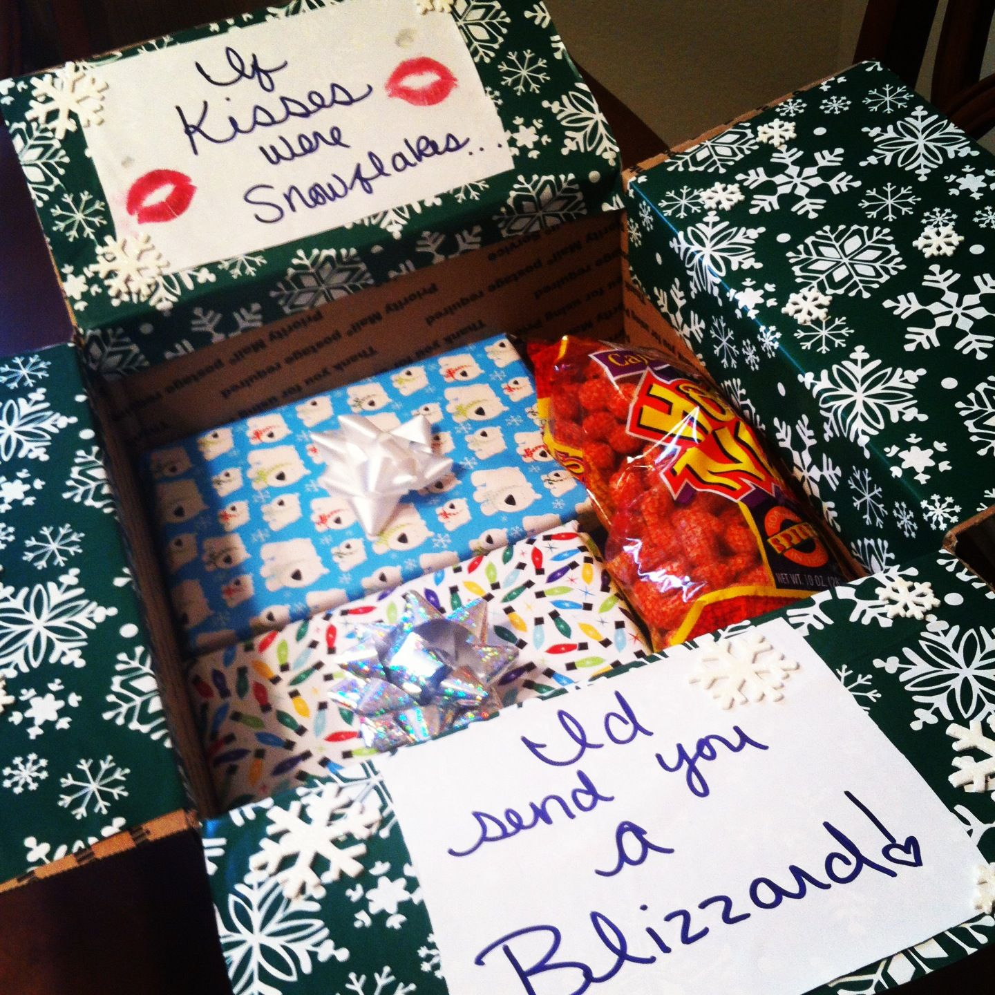 Christmas Care Package Quot If Kisses Were Snowflakes I D