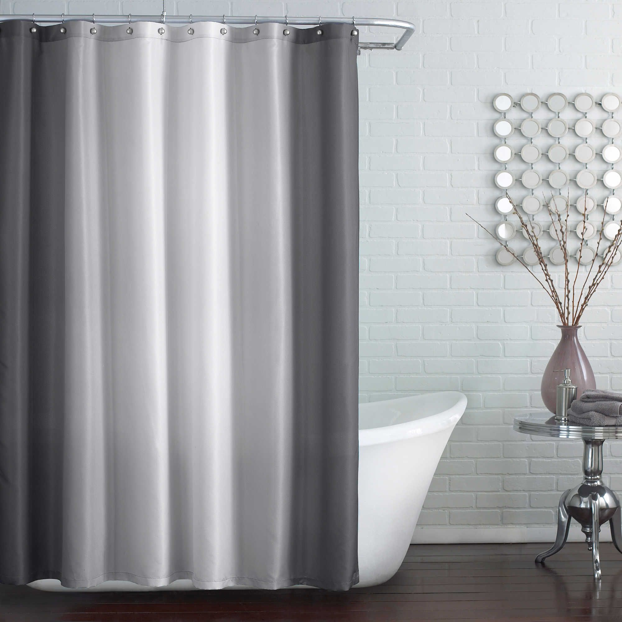 Blaire ExtraLong Inch X Inch Shower Curtain In Grey - Bed bath and beyond curtains and window treatments for small bathroom ideas