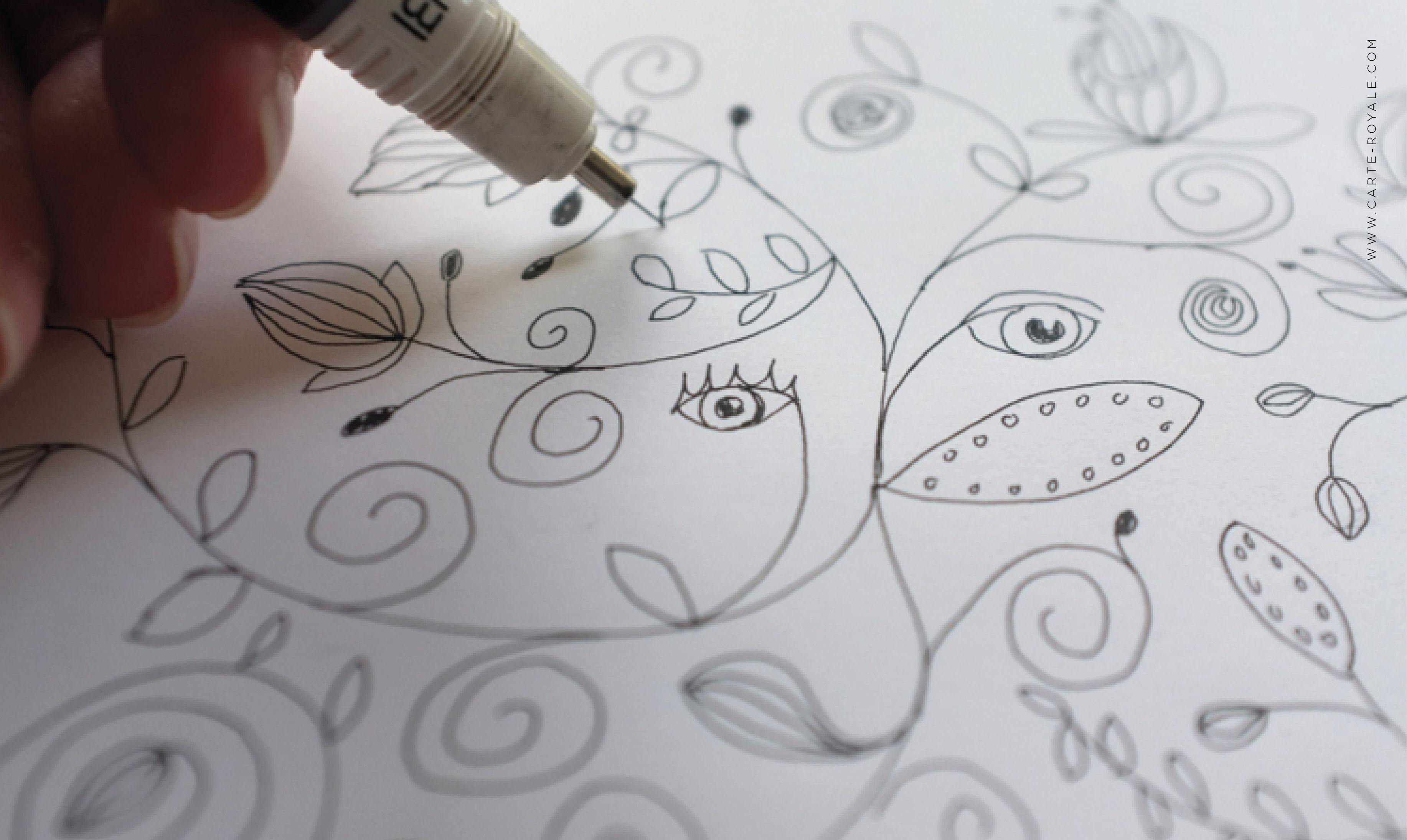"Handgezeichnetes Motiv aus der Hochzeitspapeterie-Serie ""Les Curieux"" von www.carte-royale.com"