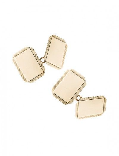 Gold Chain Style Cufflinks - Available at Onyx Goldsmtihs