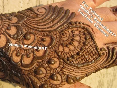 Mehndi Henna Designs S : Youtube arabic mehndi henna design tutorial art creation for back