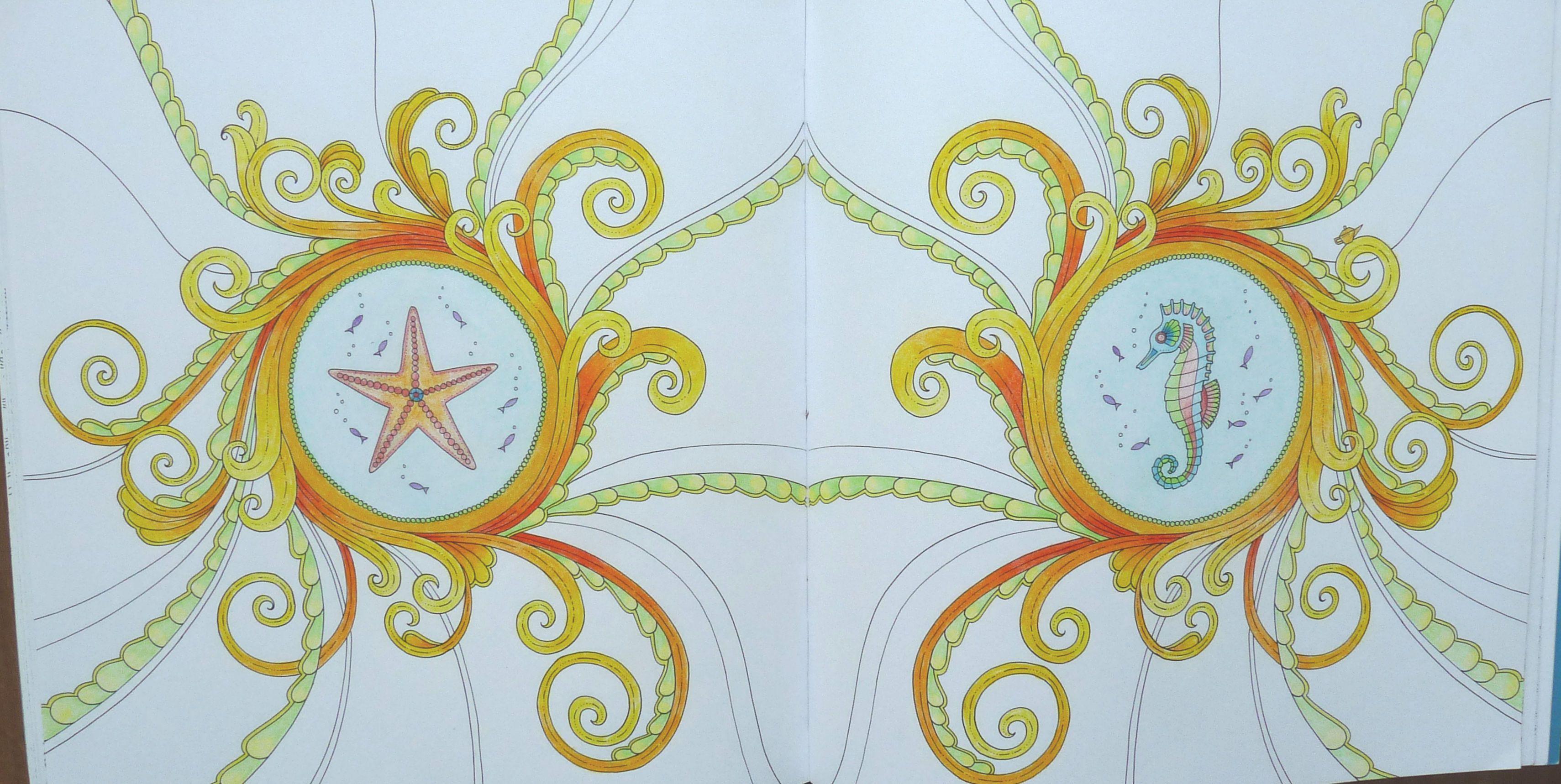 Uit het boek Magical Jungle van Johanna Basford. - From the book Magical Jungle from Johanna Basford. - Gekleurd door Adri. Colored by Adri.