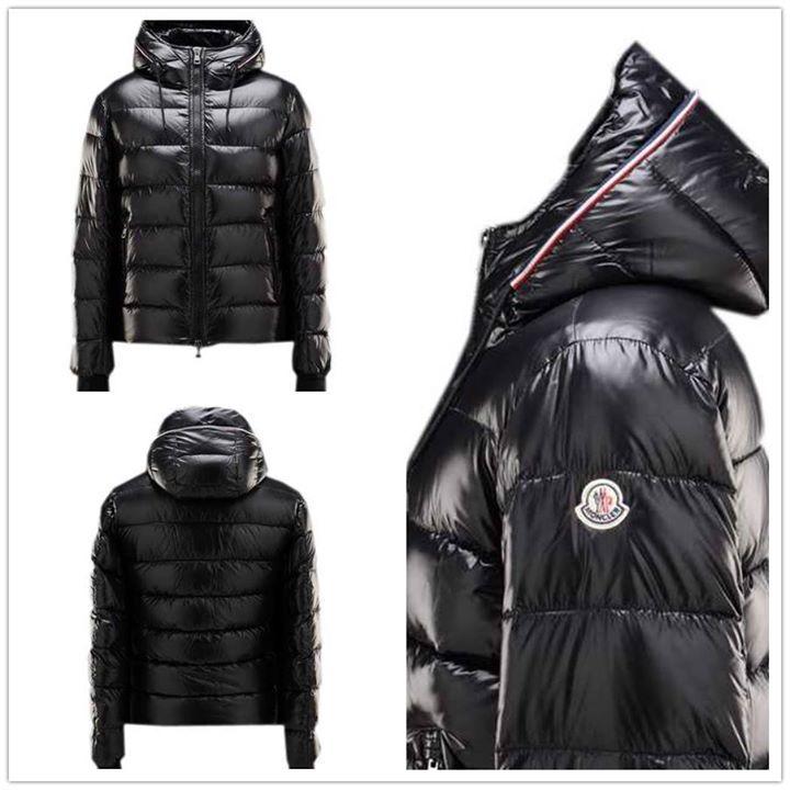 Moncler Aubert Euramerican Style Jacket Men Zip Hooded Black Sale ...
