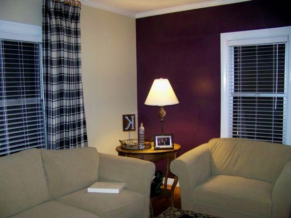 Kontrastierende Farben Für Wohnzimmer Wandgestaltung (600×450)