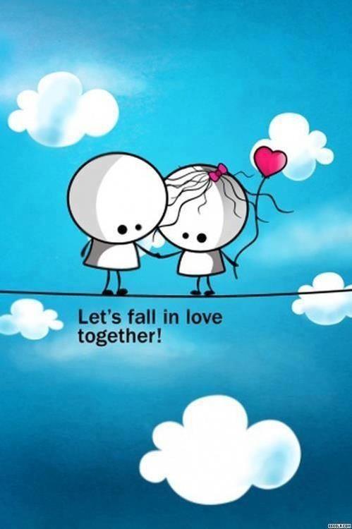 Love Quotes Cartoon Wallpaper
