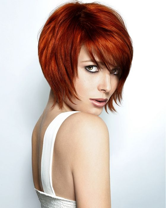 Colour, fringe, bob, texture. love | Frisur rote haare