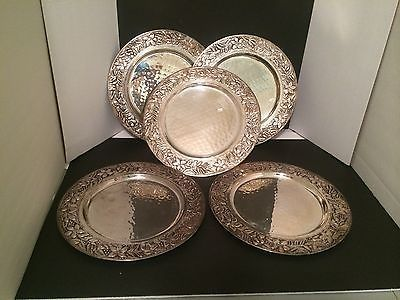 Set of 5 Silver Metal Dinner Plate Chargers 12 Inch Made in India ON SALE & Set of 5 Silver Metal Dinner Plate Chargers 12 Inch Made in India ON ...