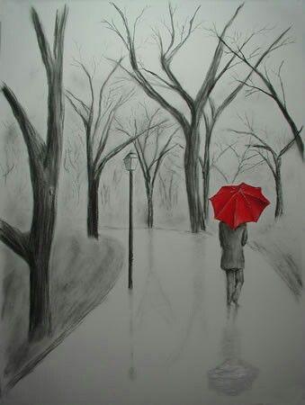 Hola Lluvia Ya Que La Gente No Me Quiere Solo Te Tengo A Ti Mi Fiel Amiga Con Que A Par Tuya Llorro La Art Drawings Sketches Art Drawings Pencil Art