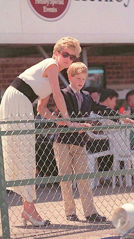 Diana, Princess of Wales with Prince Harry of Wales. A♥W