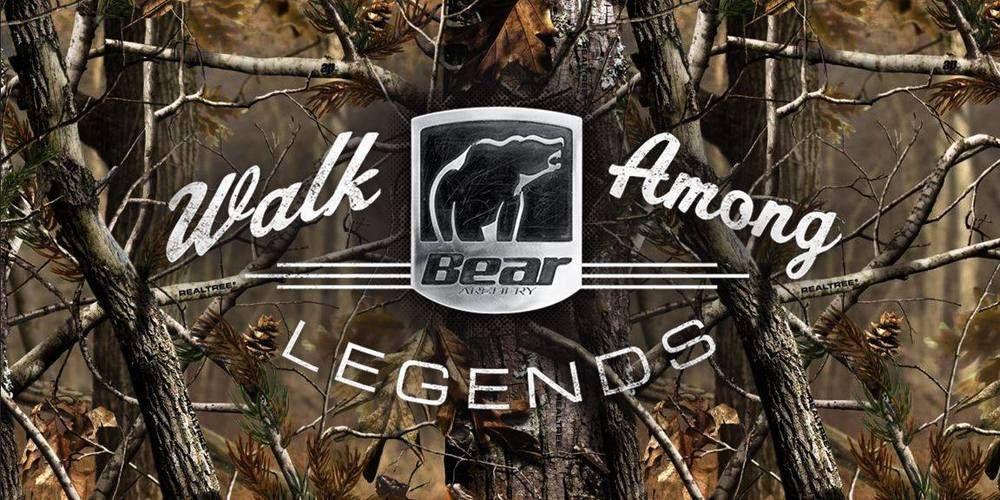 WALK AMONG LEGENDS Bear Archery Bow Hunting Camo Vinyl Banner Sign 2 x 4' |  Bear archery, Bow hunting, Hunting camo