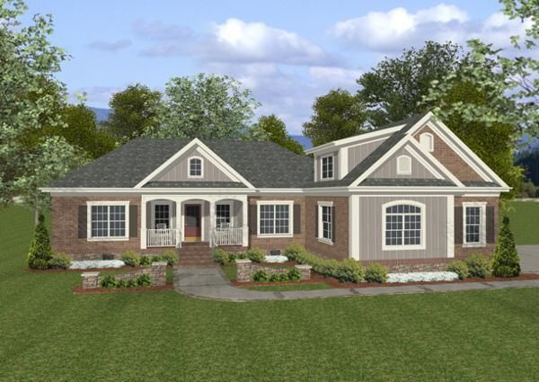 House Plan 036 00061 Traditional Plan 1 800 Square Feet 3 4 Bedrooms 3 Bathrooms In 2021 Craftsman Style House Plans Ranch House Plans Country House Plans