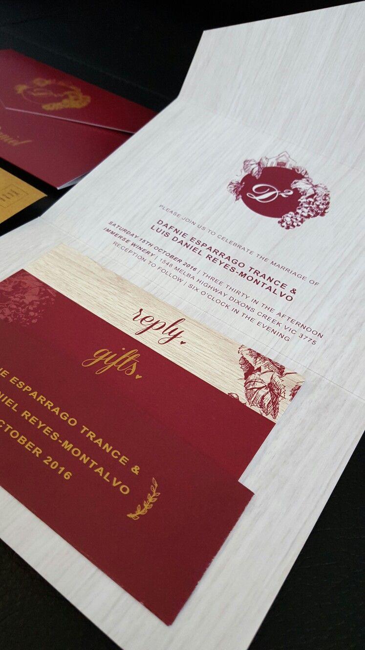 Custom designed pocket fold invitation.. winery themed By Invites by ...