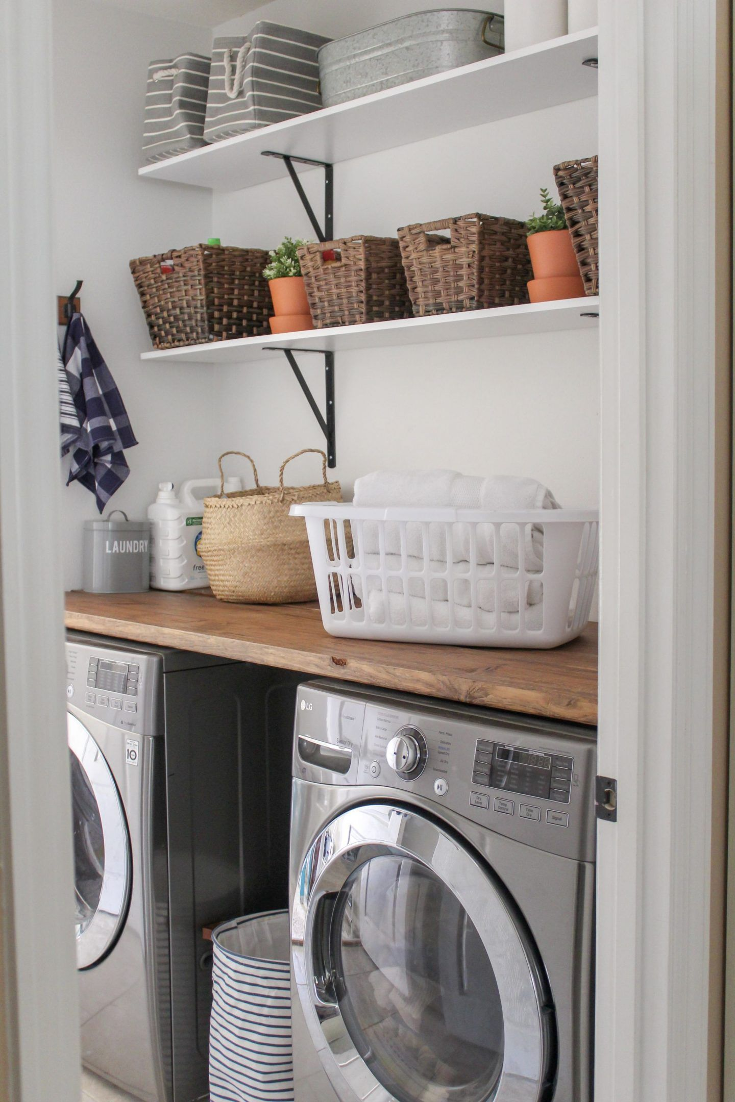 Home Tour Small Laundry Room Makeover Small Laundry Room Makeover Room Makeover Small Laundry Rooms