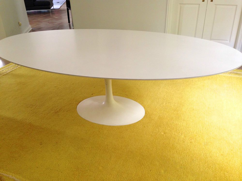 Original Authentic Vintage Knoll 96 Tulip Oval Dining Table Or