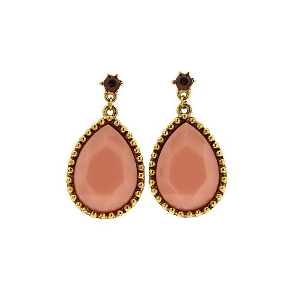 Rachel Leigh - Millie's Vintage Crystal Drops (Blush) - Jewelry featuring polyvore women's fashion jewelry earrings accessories gioielli brincos women's jewelry 14k earrings crystal earrings vintage jewelry vintage jewellery crystal jewelry