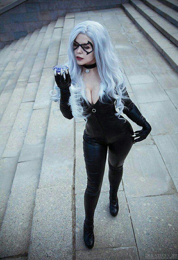 Black Cat full cosplay costume Marvel comics Etsy