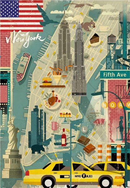 Amerika Karte New York.Manhattan New York Vereinigte Staaten Von Amerika United States