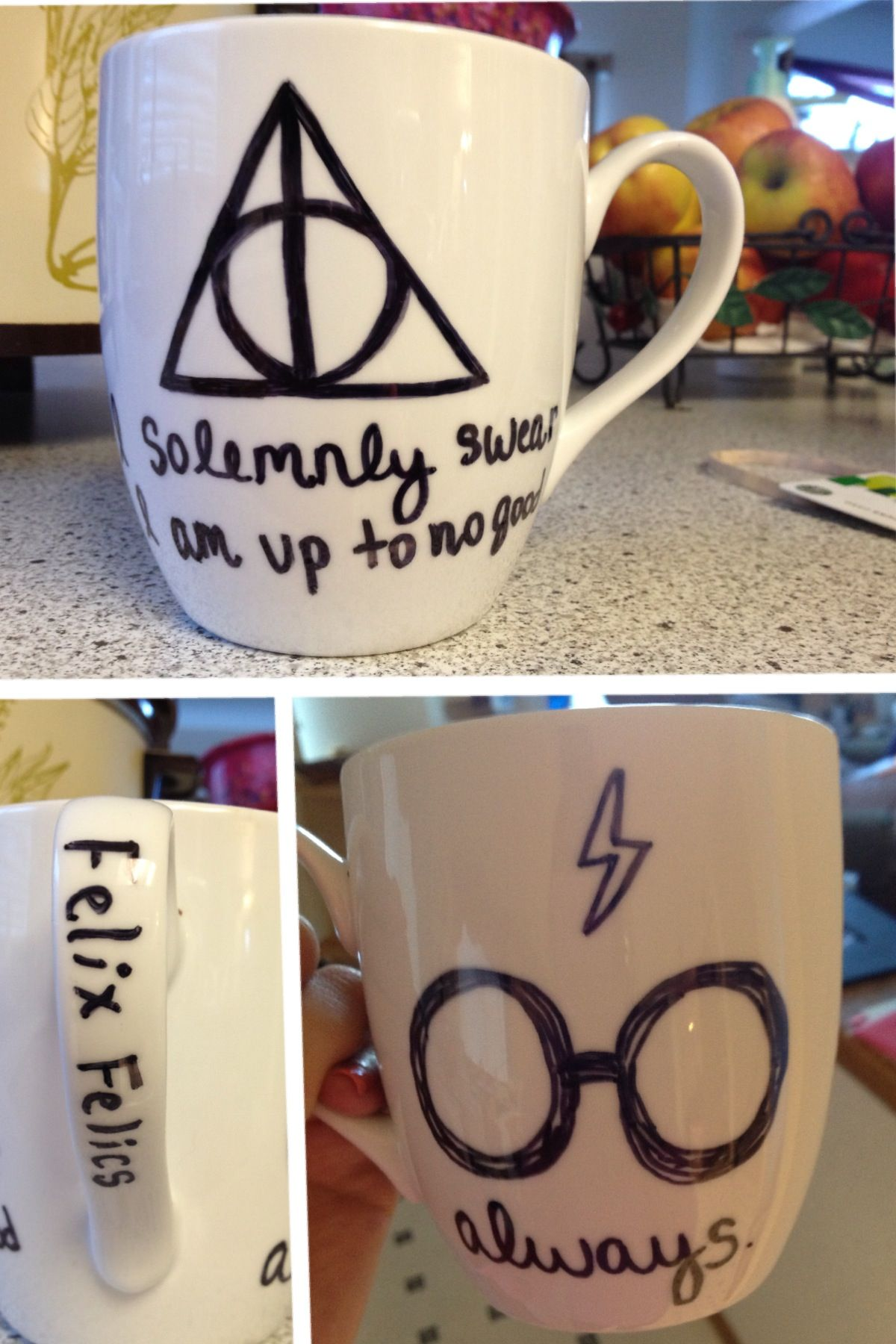 Harry potter diy sharpie mug bake at 425 for 30 minutes and then jens gift harry potter diy sharpie mug bake at 425 for 30 minutes and then use clear nail polish to keep design from flaking solutioingenieria Image collections